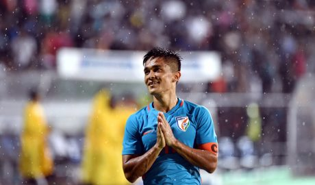 Sunil Chhetri equals Messi's record