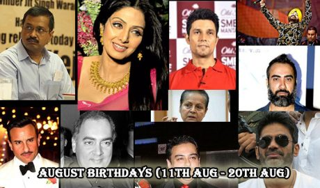 Indian celebrities born in August(11th Aug- 20th Aug)