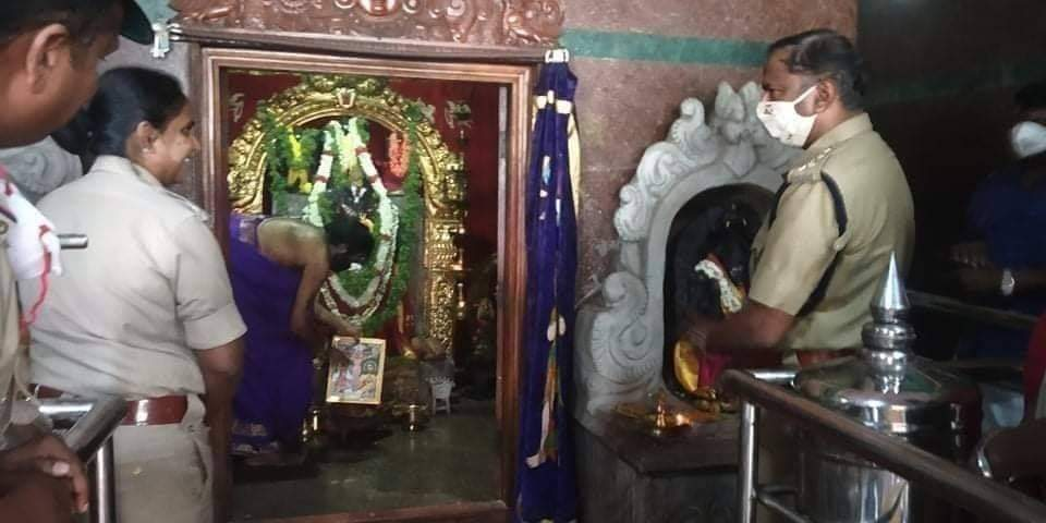 An IPS placed Jesus picture in The Hanuman temple